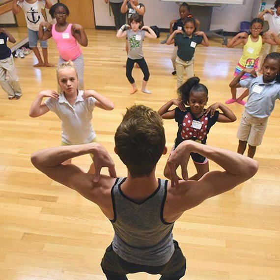 ballet class with kids