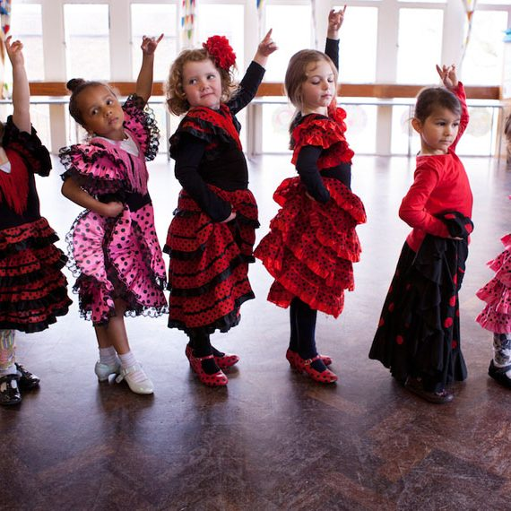 kids flamenco pose